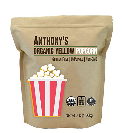 Organic Yellow Popcorn Kernels (3lb) by Anthony's