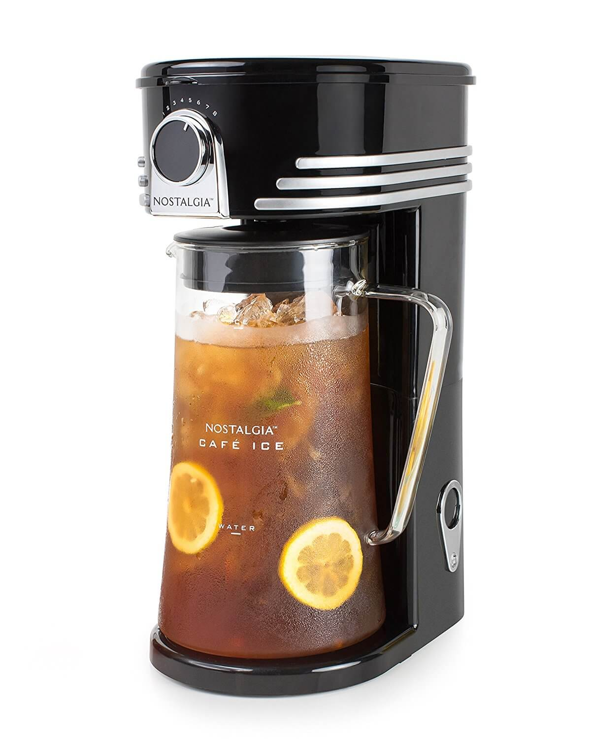 Nostalgia CI3BK Café Ice 3-Quart Iced Coffee & Tea Brewing System
