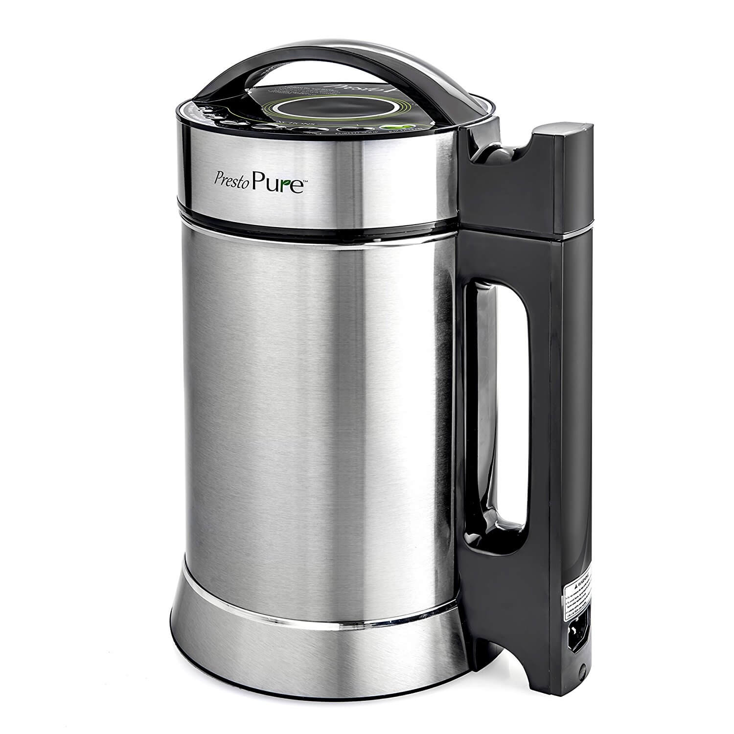 Presto Pure IAE15 - 1.9 Liter Automatic Hot Soy Milk (Almond, Rice, Quinoa Milk) Soup, Porridge & Cold Juice Maker - 2 Layer Stainless Steel