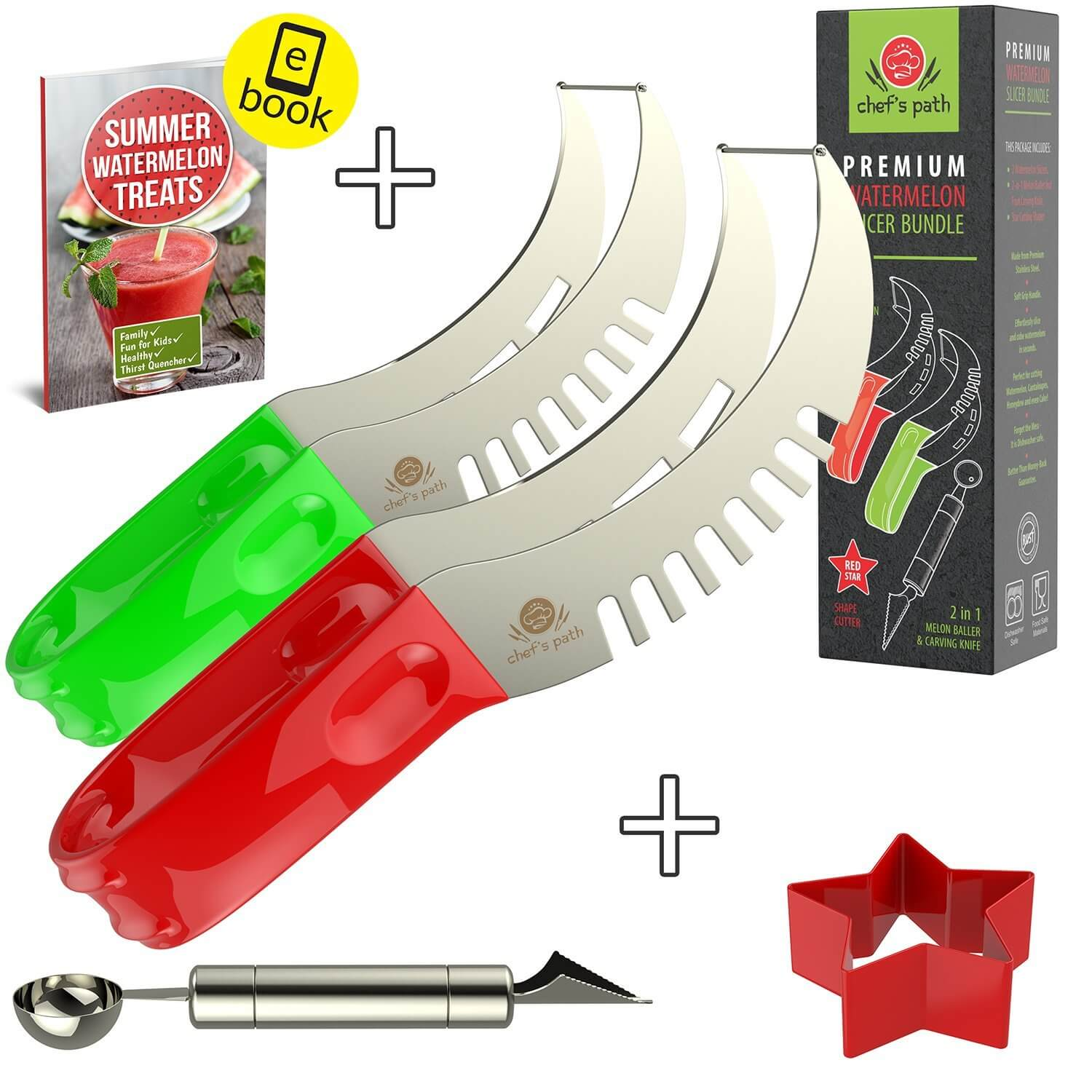 Chef's Path BEST WATERMELON SLICER (2-Pack)