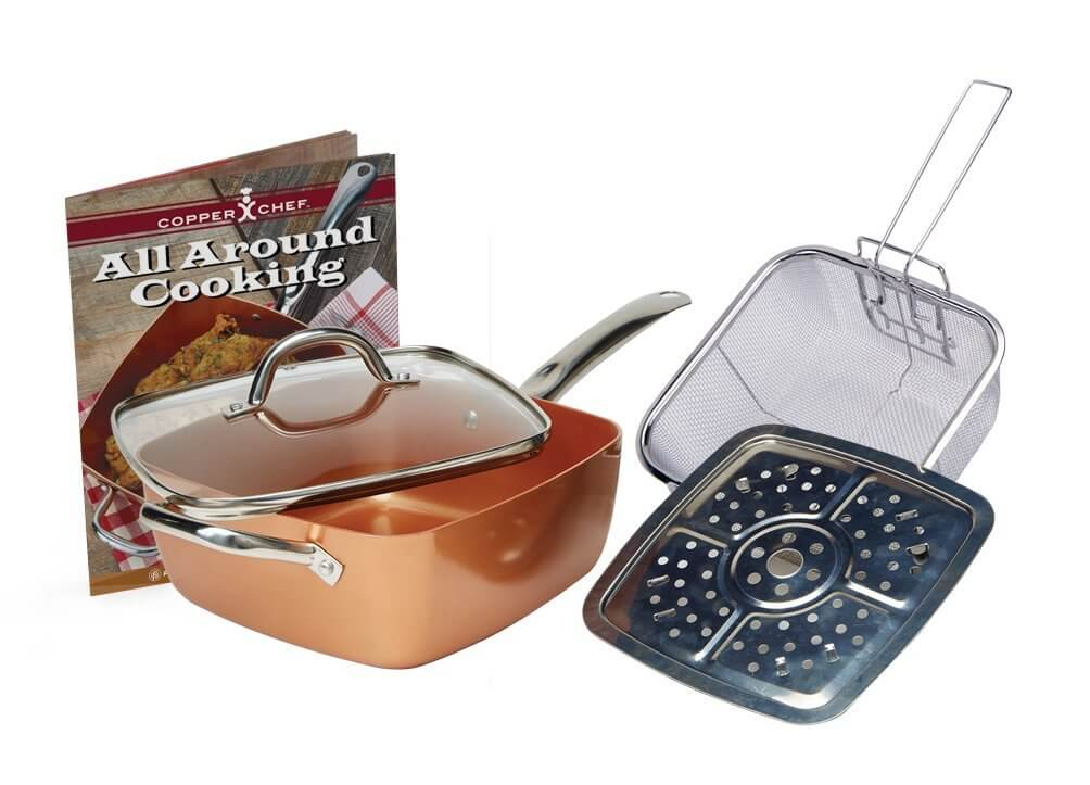 "Copper Chef 11"" XL Cookware set (5 Pc)"