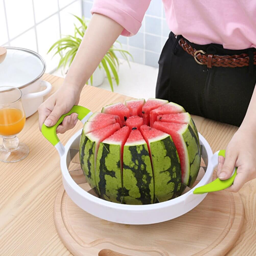 Extra Large Watermelon Slicer with Comfort Silicone Handle