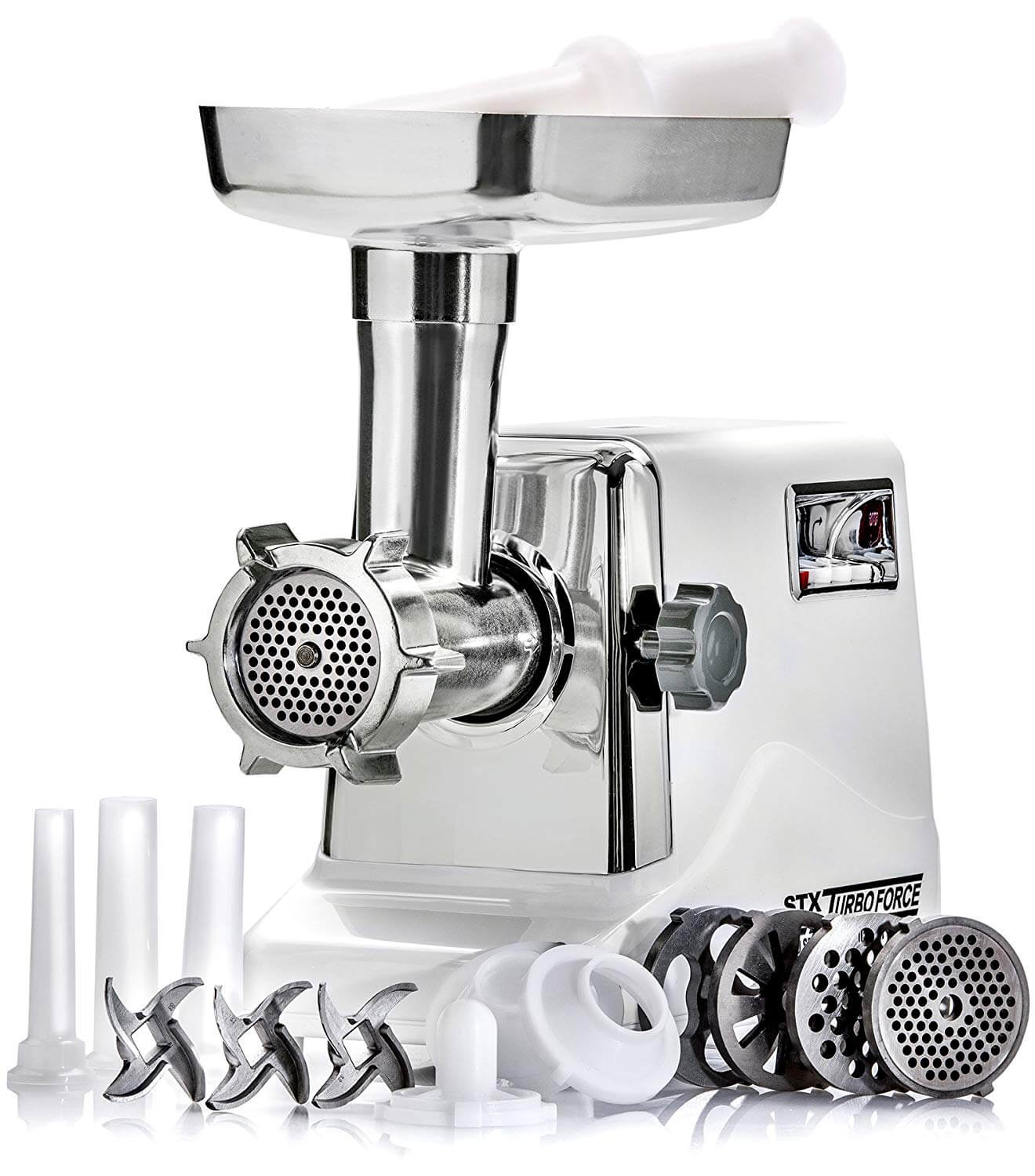 STX International STX-3000-TF Turboforce 3 Speed Electric Meat Grinder & Sausage Stuffer