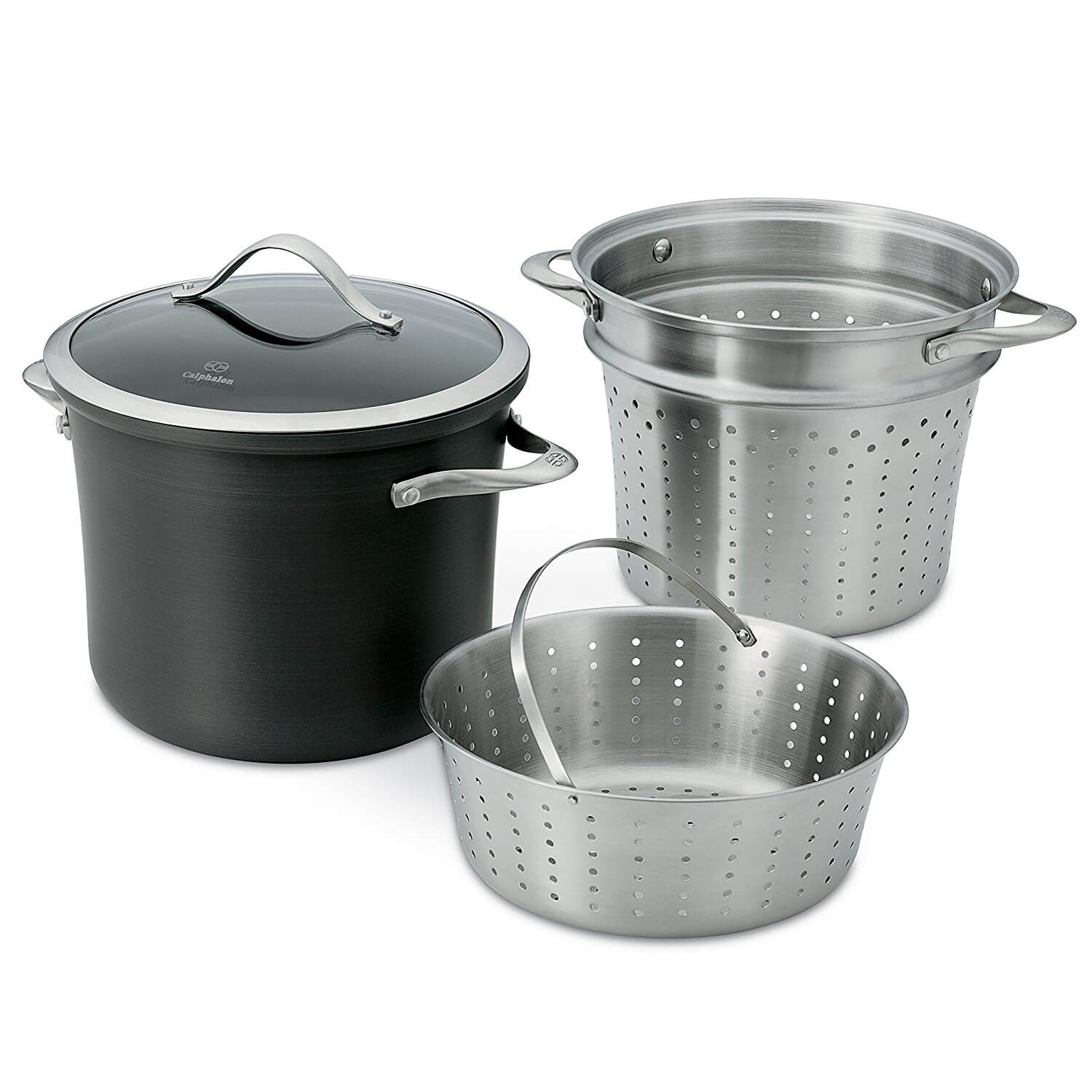 Calphalon Contemporary Hard-Anodized Pasta Pot