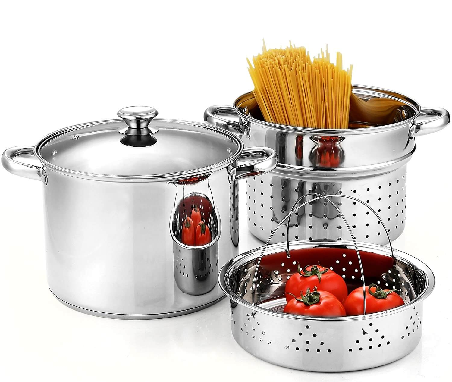 Cook N Home Pasta Cooker Steamer Multipots