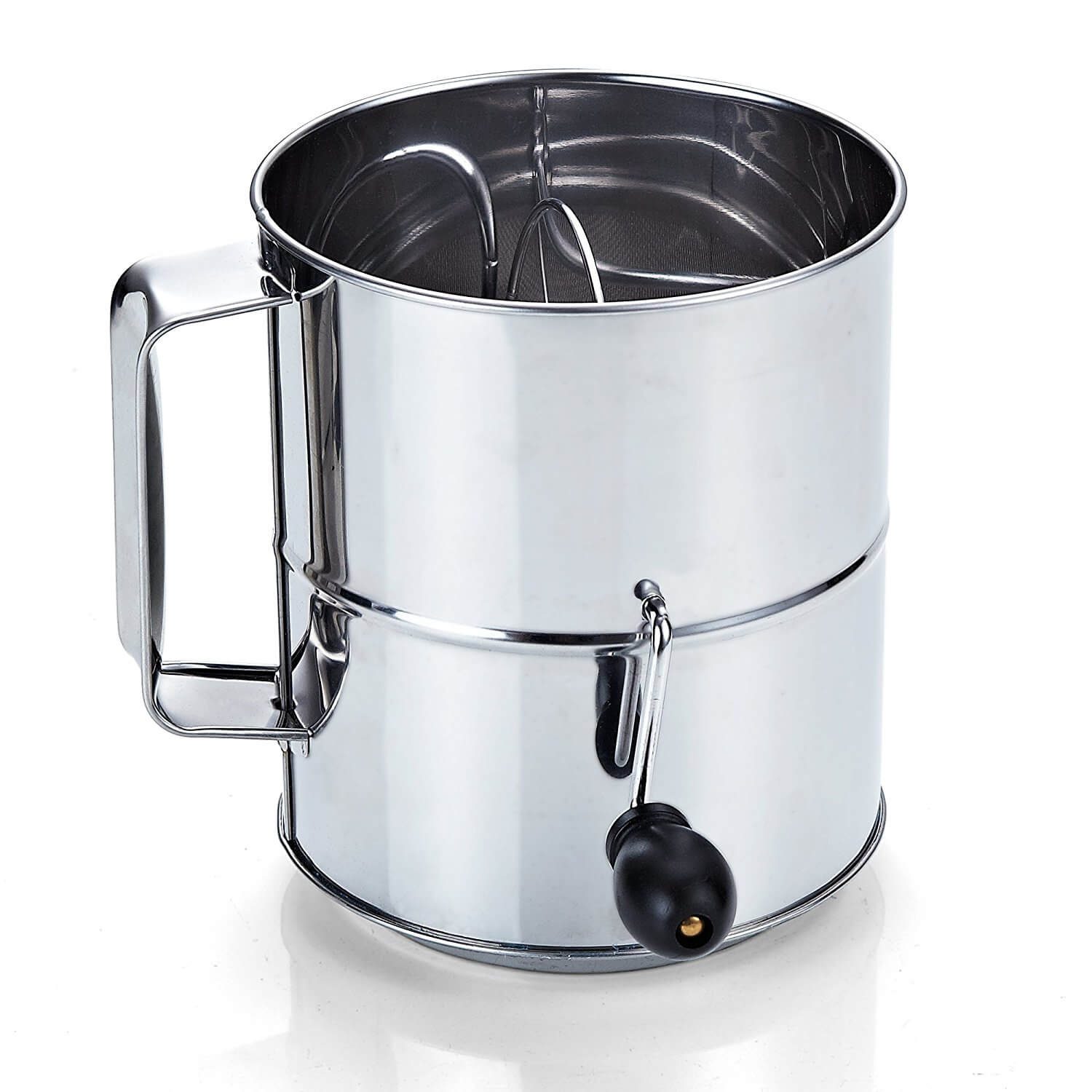 ​Cook N Home Stainless Steel 8-Cup Flour Sifter (A)