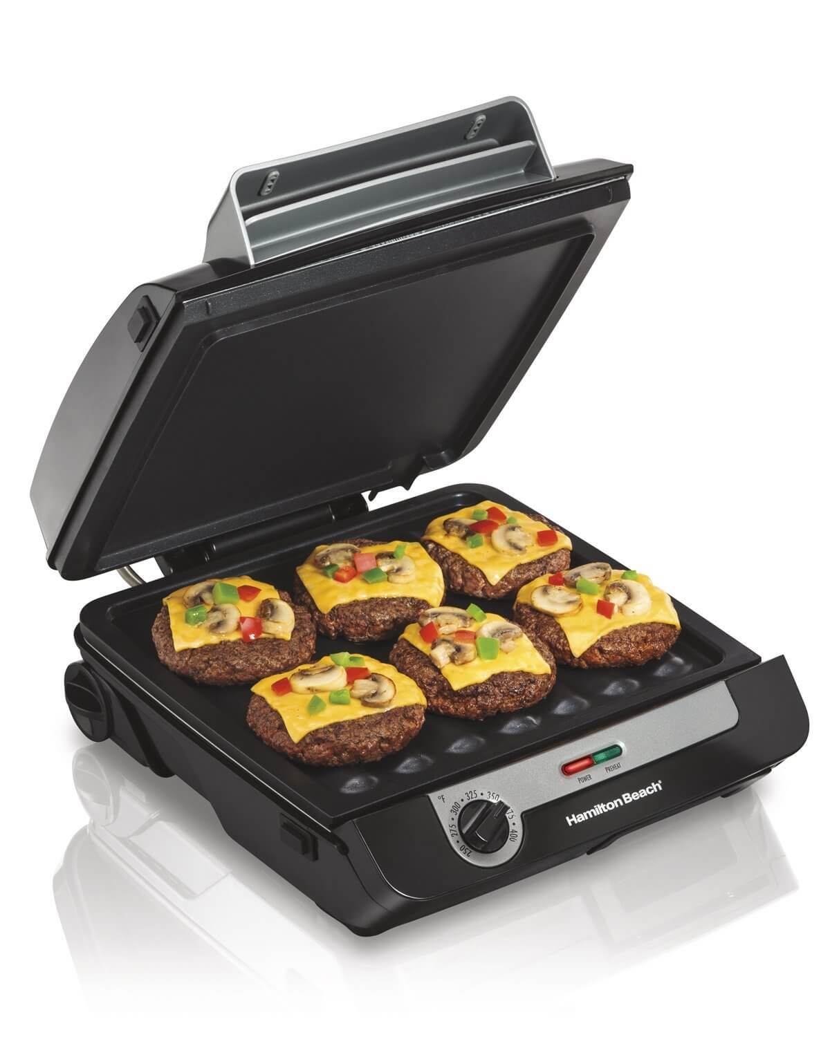Hamilton Beach 3-in-1 MultiGrill Indoor Grill, Griddle & Bacon Cooker