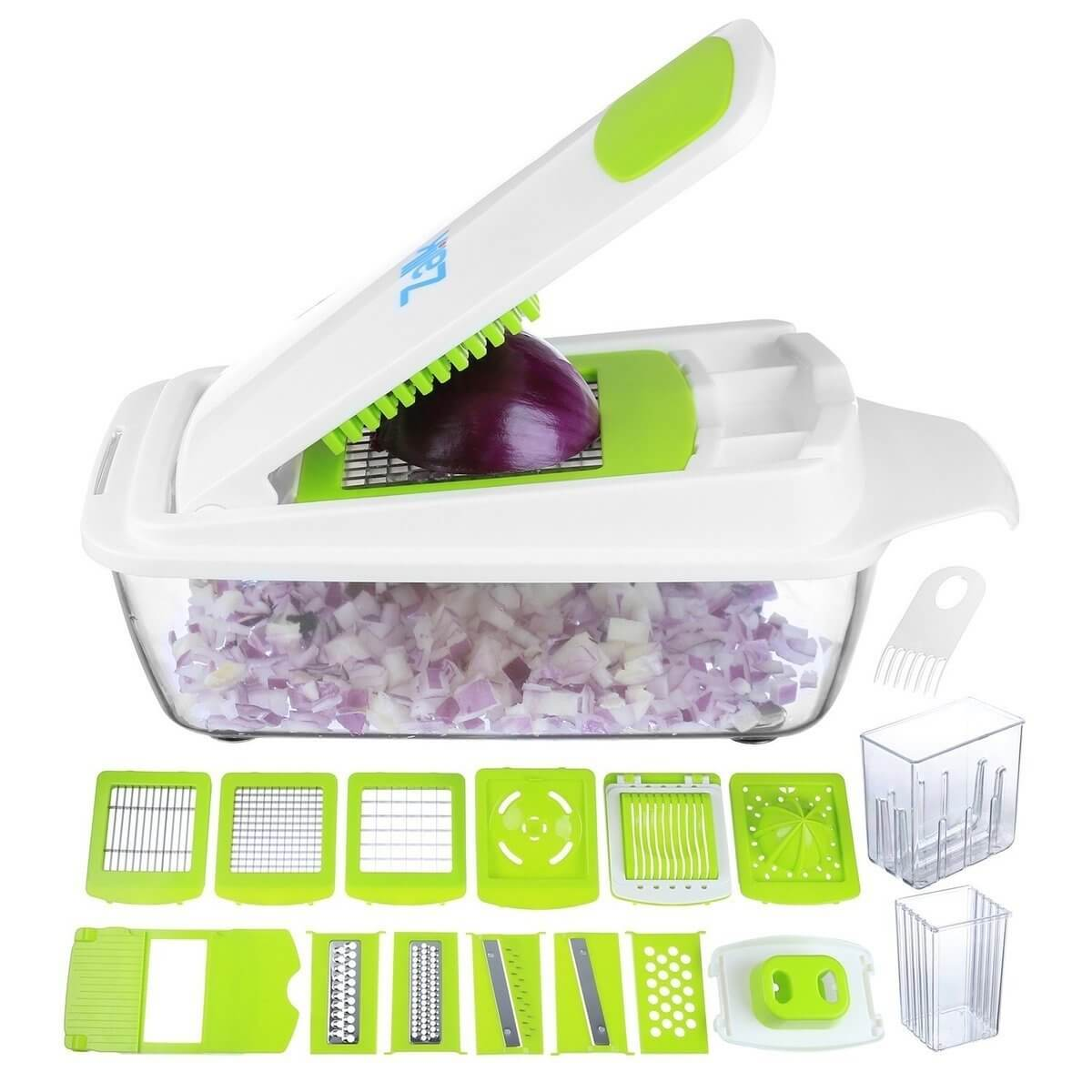 Zalik Vegetable Chopper Slicer Dicer Cutter & Grater