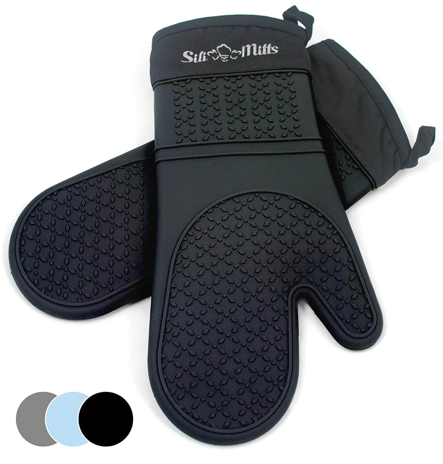 Frux Home and Yard Black Silicone Oven Hot Mitts