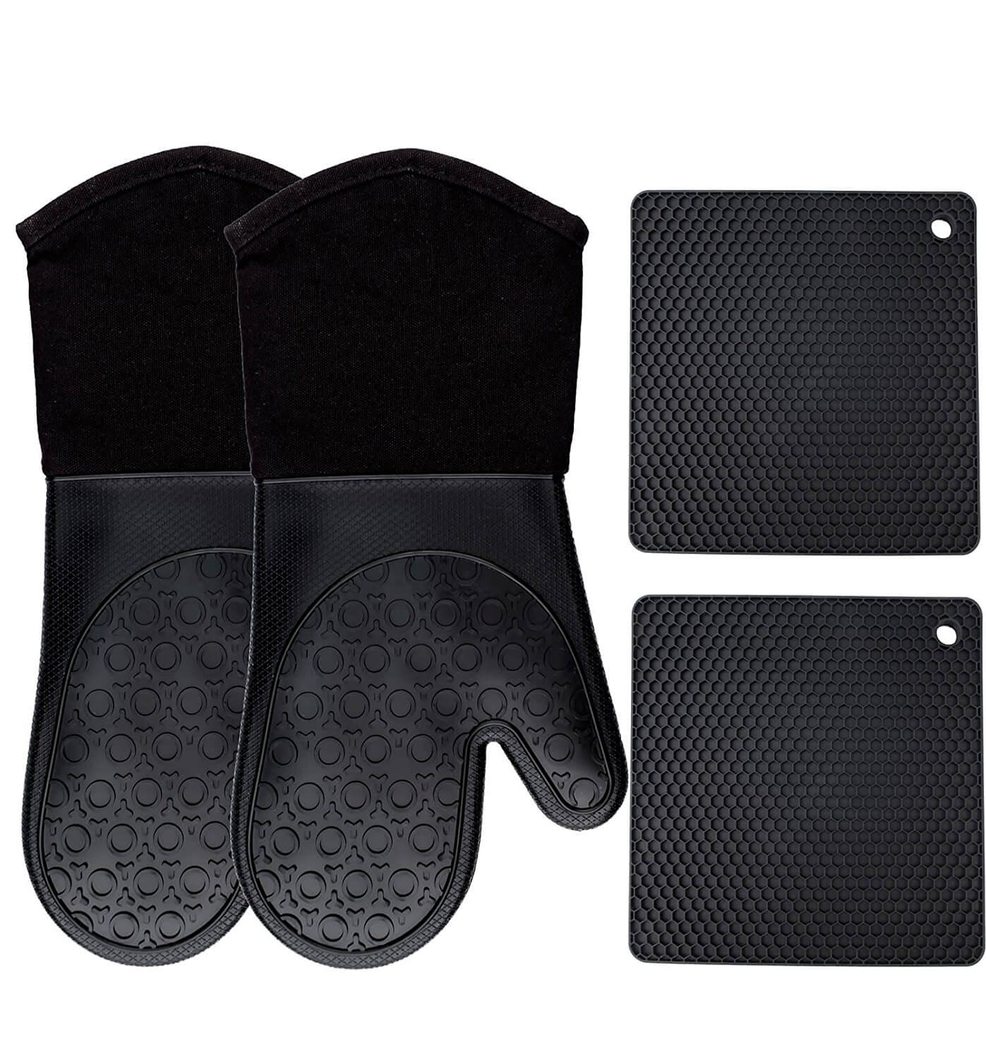 Homwe Silicone Oven Mitts and Potholders