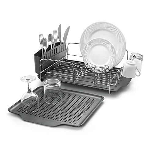 Polder Dish Rack & Tray 4 PC Combo– Advantage System Includes Rack