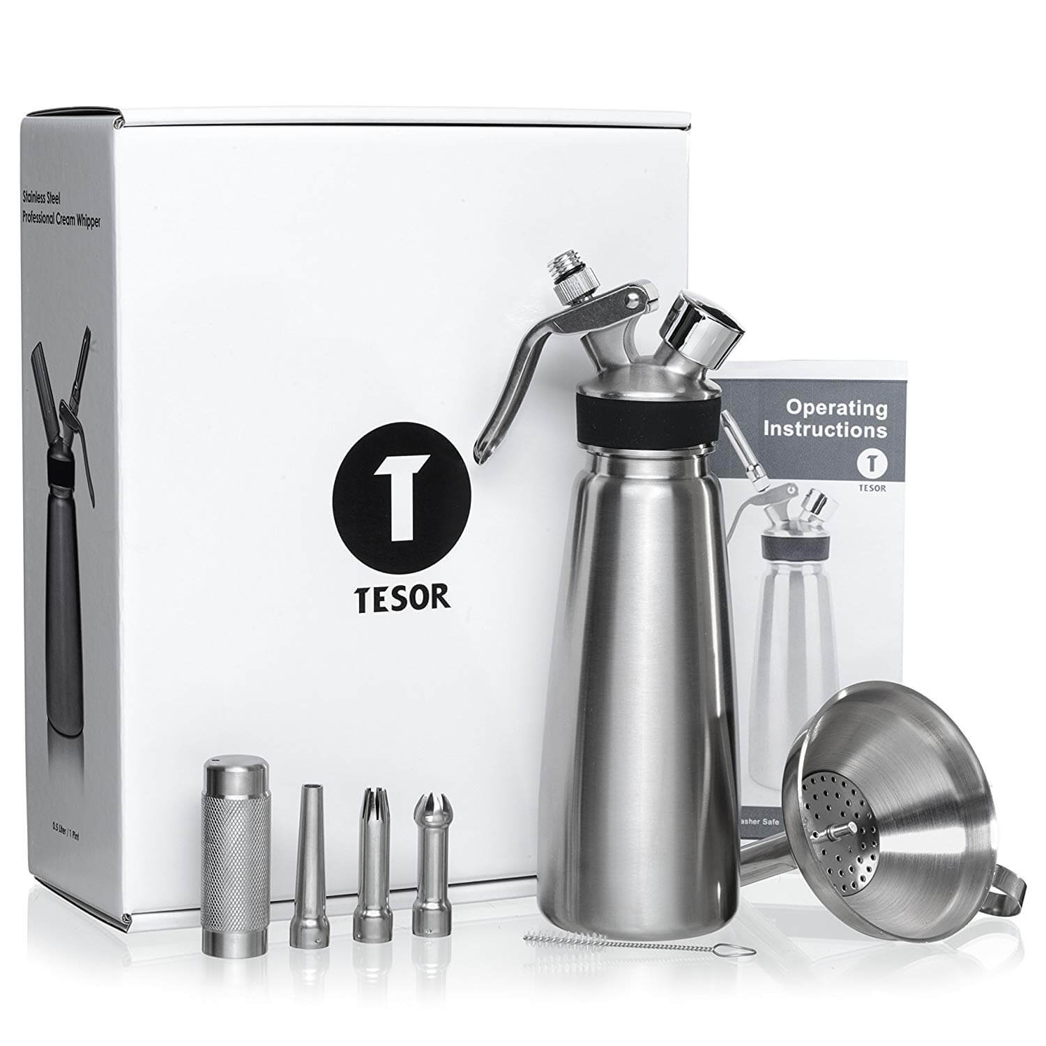Tesor Stainless Steel Whipped Cream dispenser