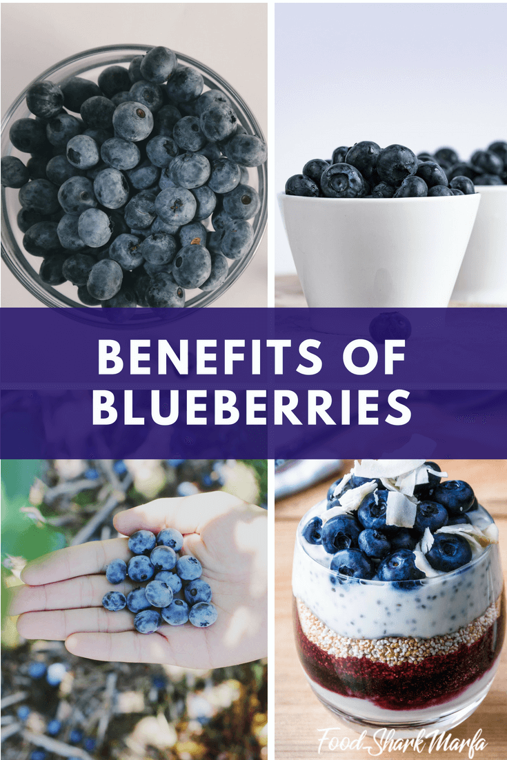 benefits of blueberries pin image