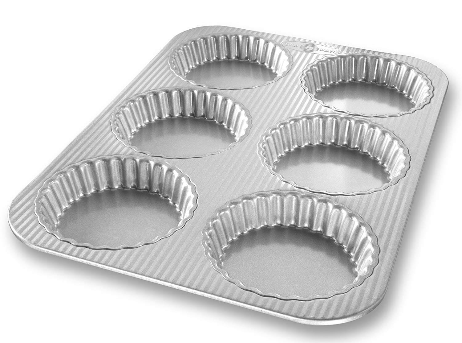 Set Of Six Judge Bakeware Fluted Mini Tart Tins
