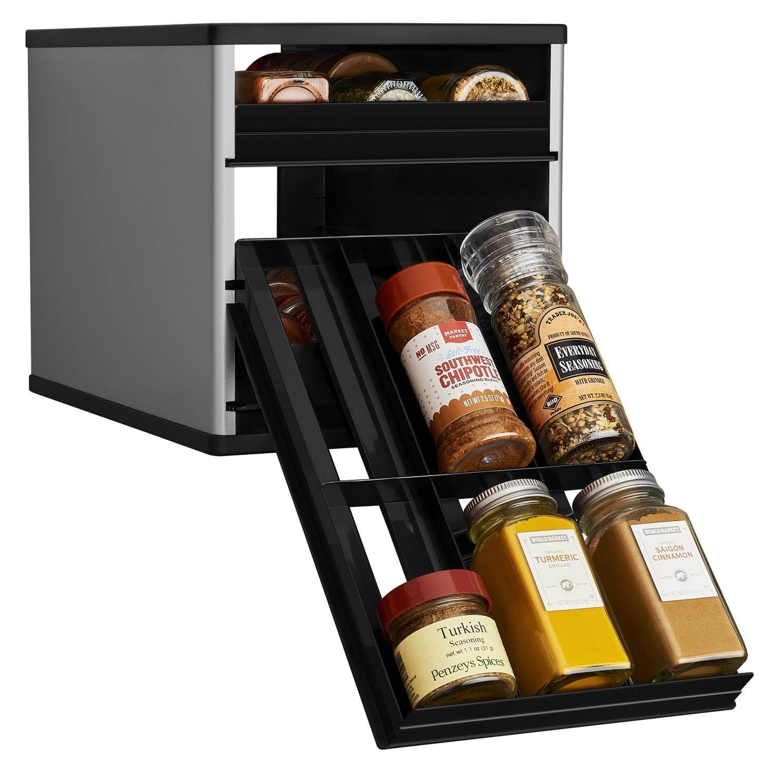 YouCopia Original SpiceStack Spice Organizer With Universal Drawer