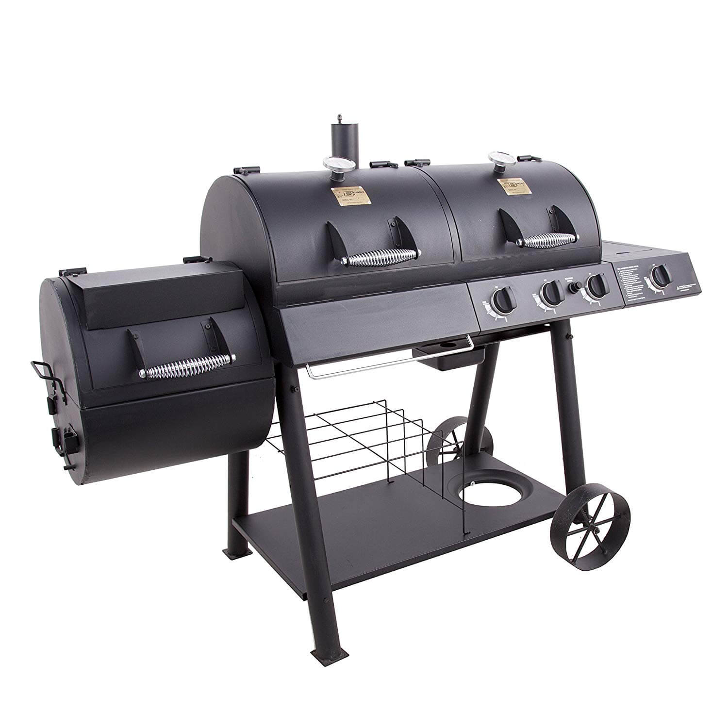 Oklahoma Joe's Charcoal LP Gas Smoker Combo