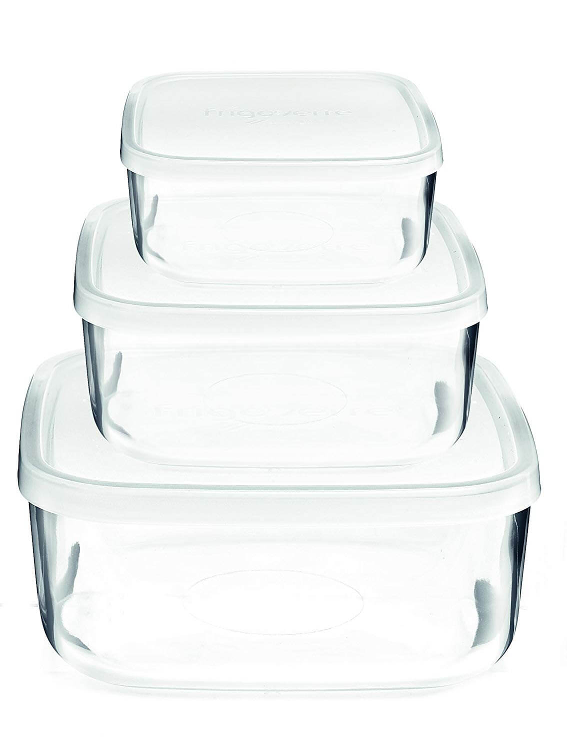 Bormioli Rocco Frigoverre Square Glass Food-Storage Containers