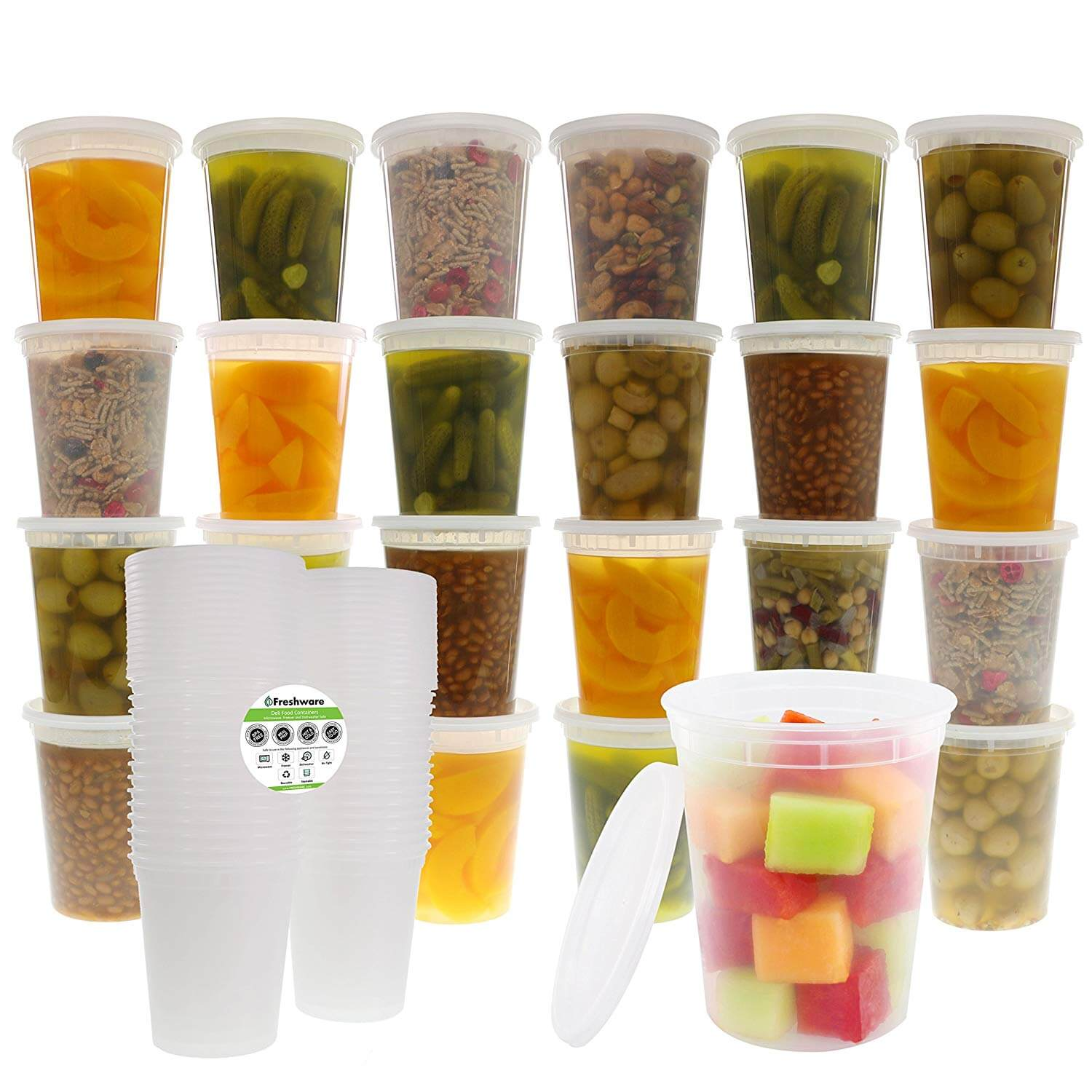 Freshware Food Storage Containers with Lids