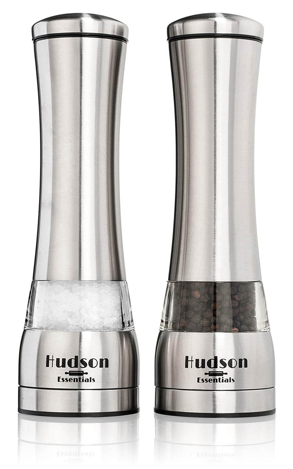 Hudson Essentials Deluxe Salt and Pepper Grinder Set