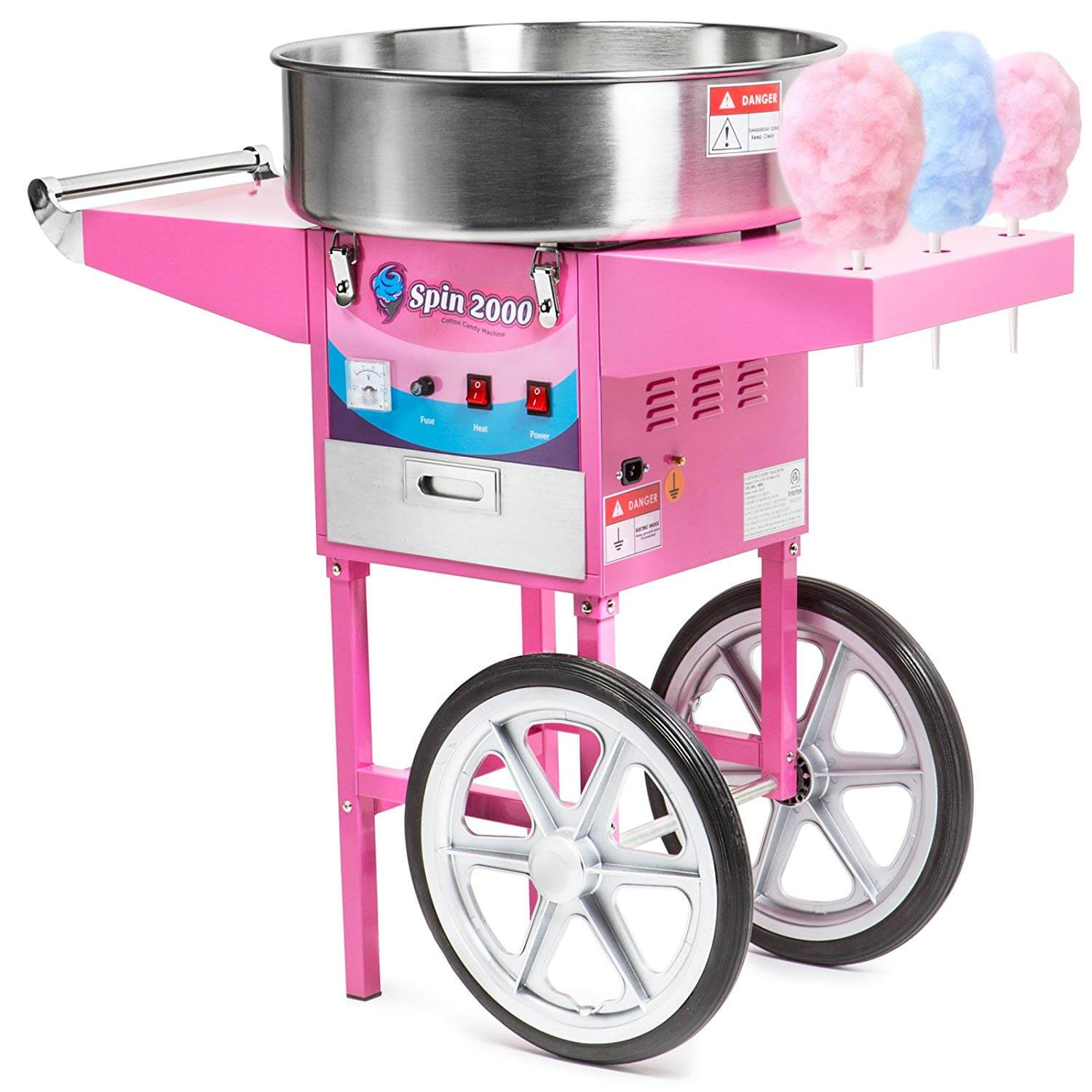 Olde Midway Commercial Quality Cotton Candy Machine Cart and Electric Candy Floss Maker
