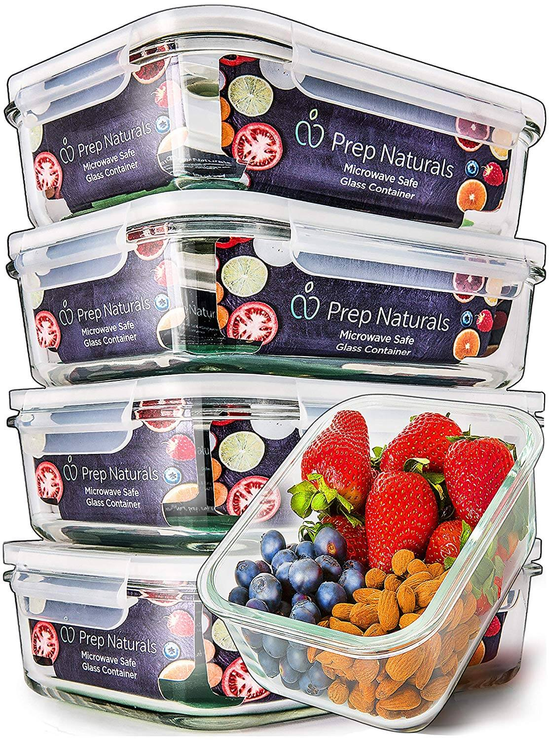 Prep Natural Food Storage Containers Airtight