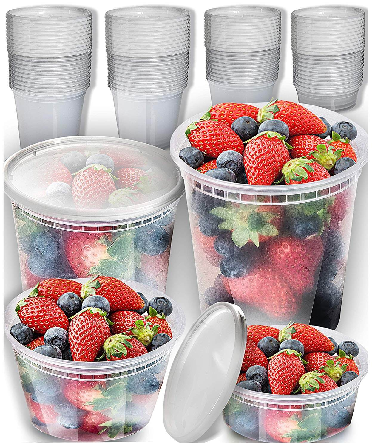 Prep Naturals Plastic Containers With Lids Set