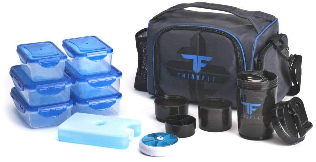 81cbf30fe2aa ThinkFit Insulated Lunch Boxes with 6 Portion Control Containers
