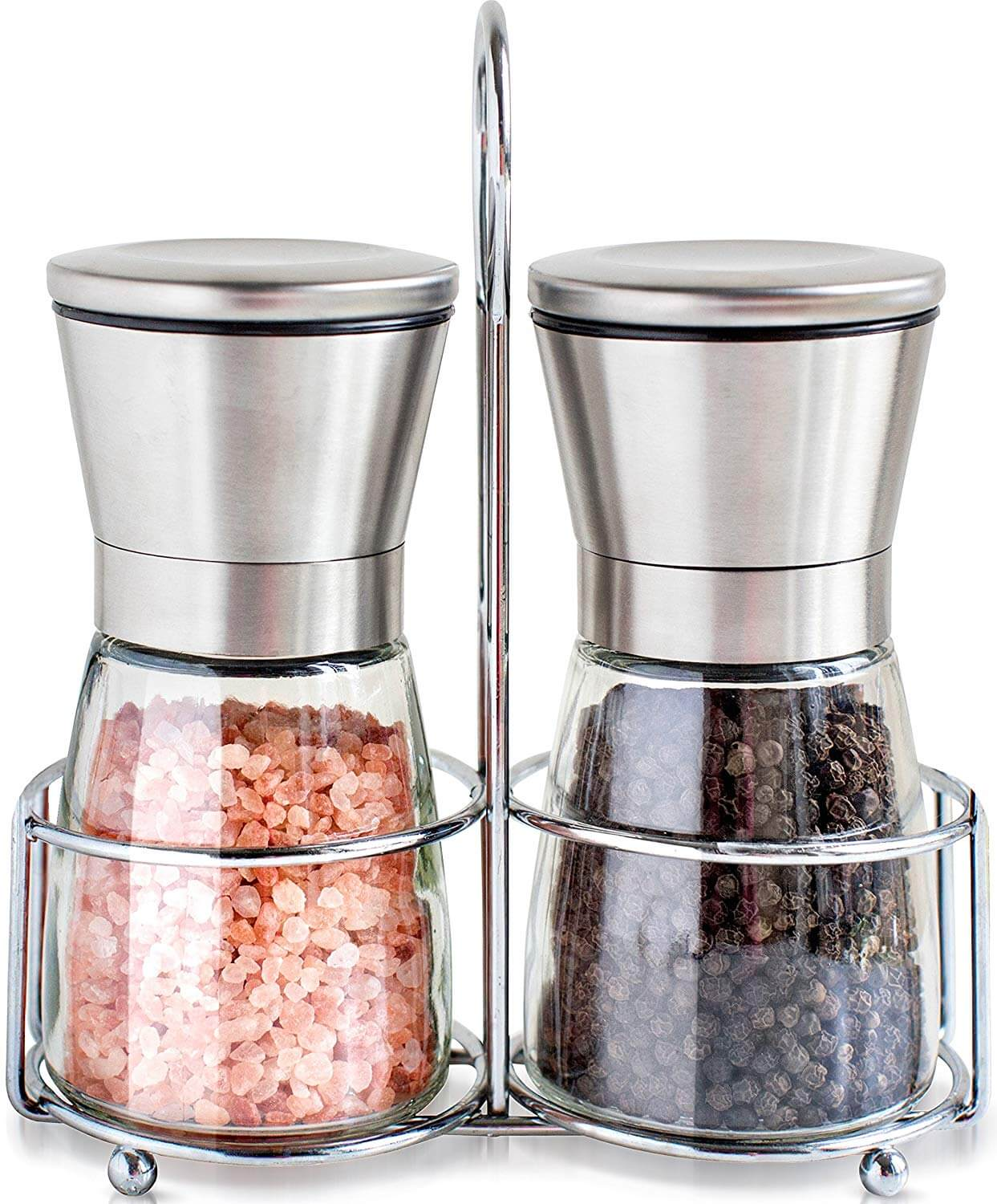 Willow and Everett Premium Stainless Steel Salt and Pepper Grinder Set