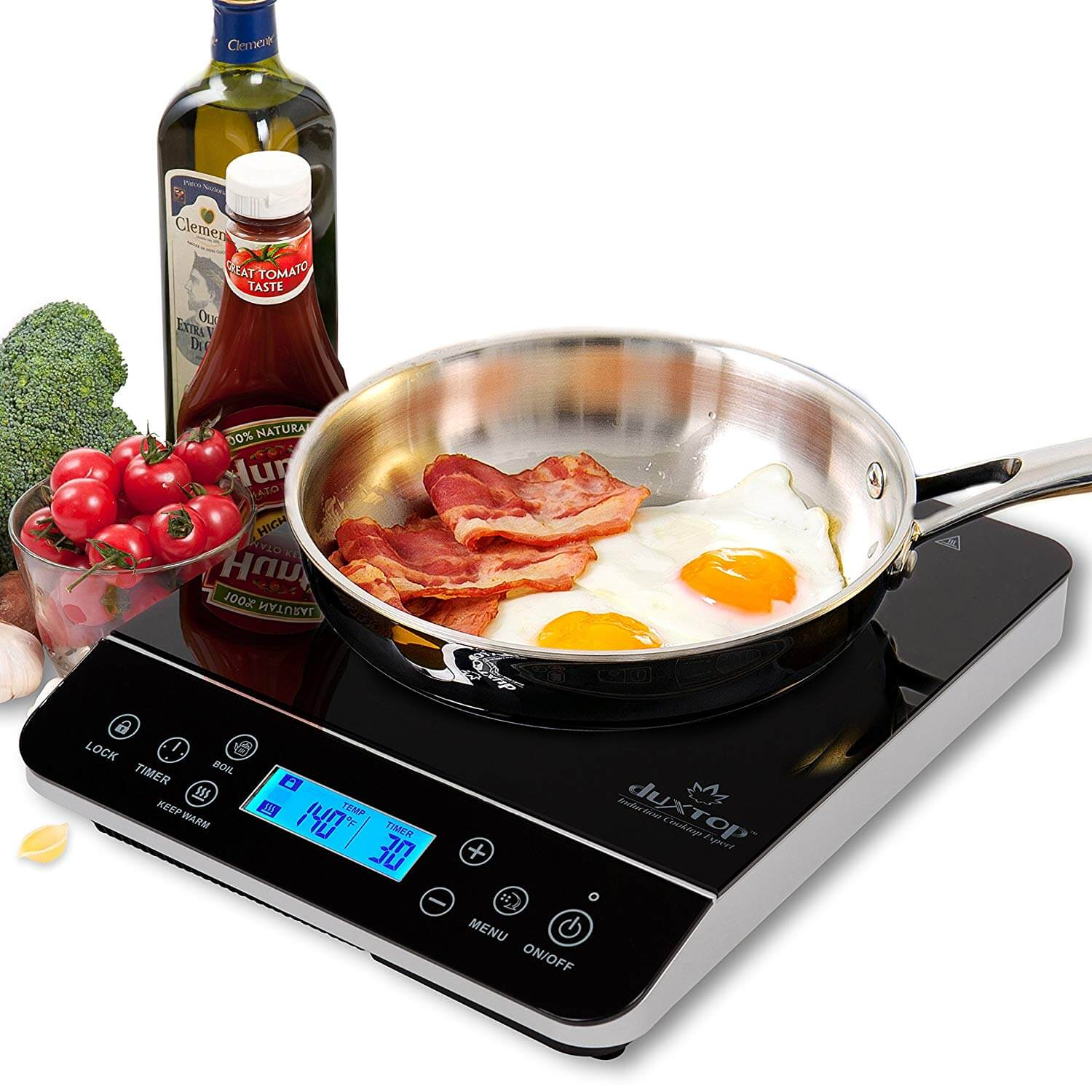 Duxtop LCD Portable Induction Cooktop Countertop Burner 9600LS