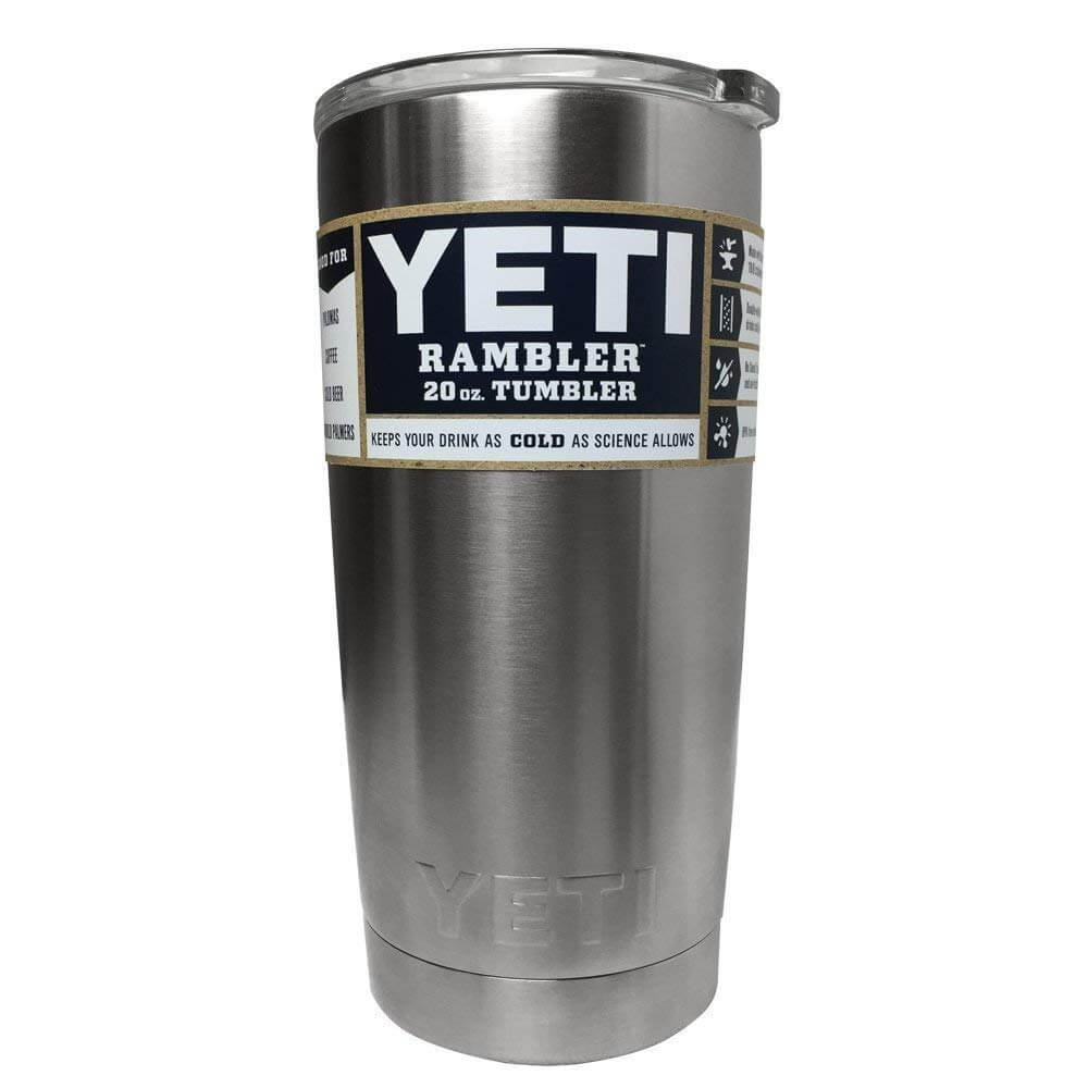 82f91e7d800 YETI Rambler 20 oz Stainless Steel Vacuum Insulated Tumbler with Lid