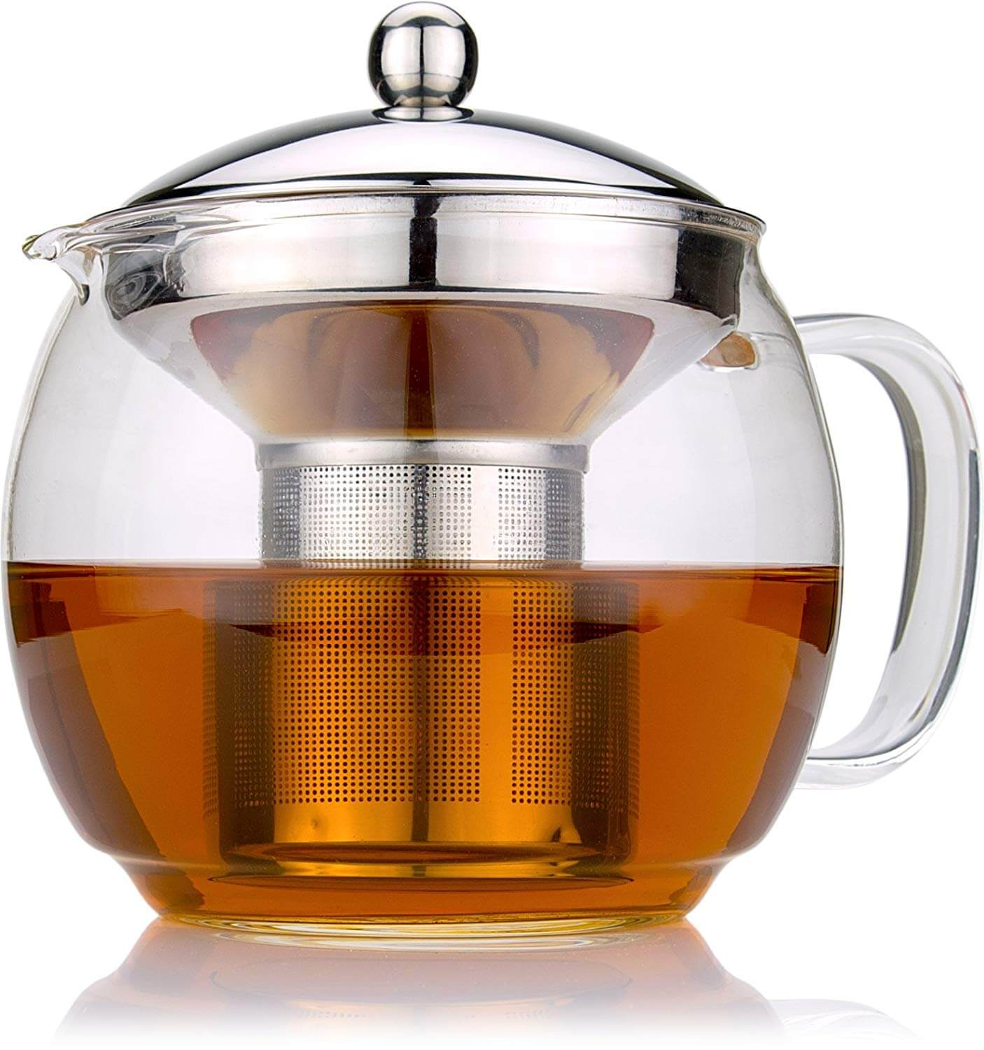 Glass Teapot with Infuser By Cozyna