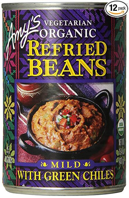 Amy's Organic Refried Beans with Green Chilies