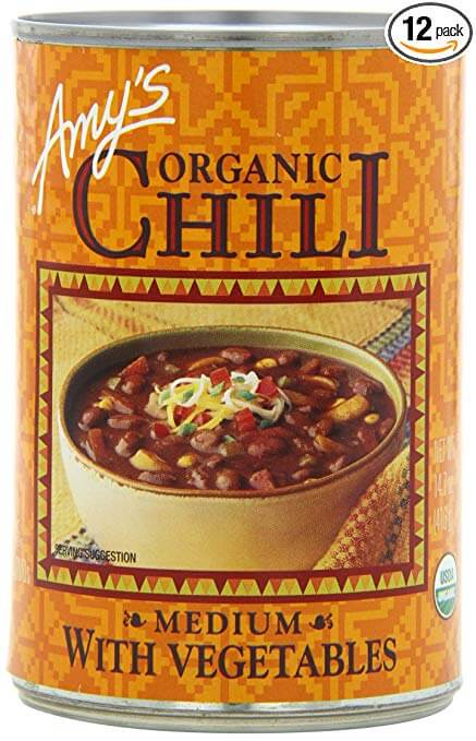 Amy's Organic Chili, Medium with Vegetables