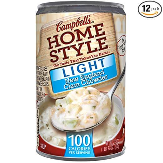 Campbell Homestyle New England Clam Chowder