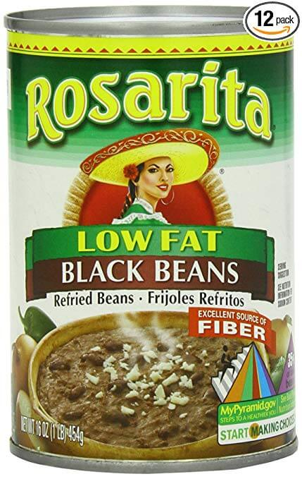 Rosarita Refried Black Beans
