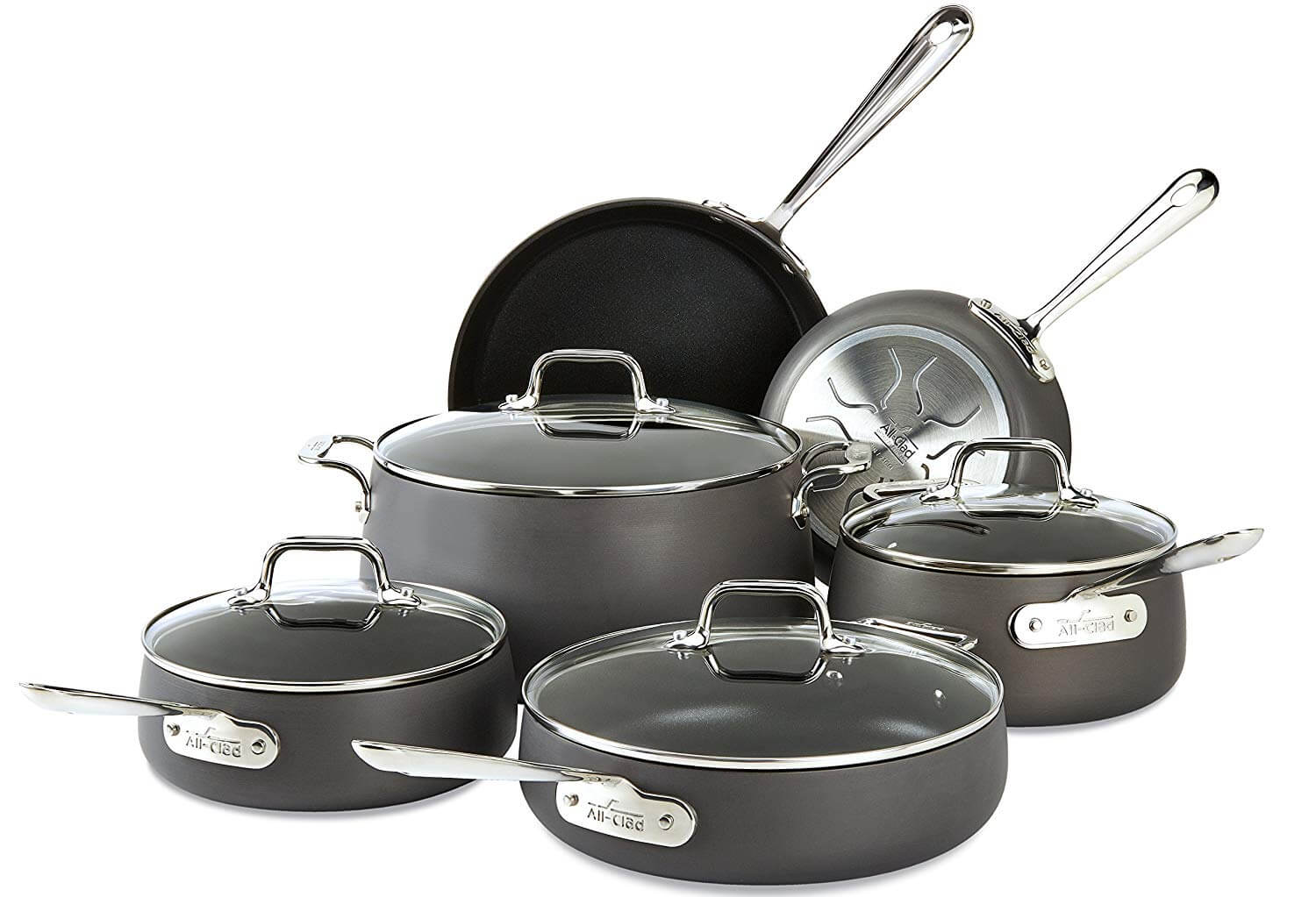 All-Clad E785SC64 Hard Anodized Non-stick Cookware Set
