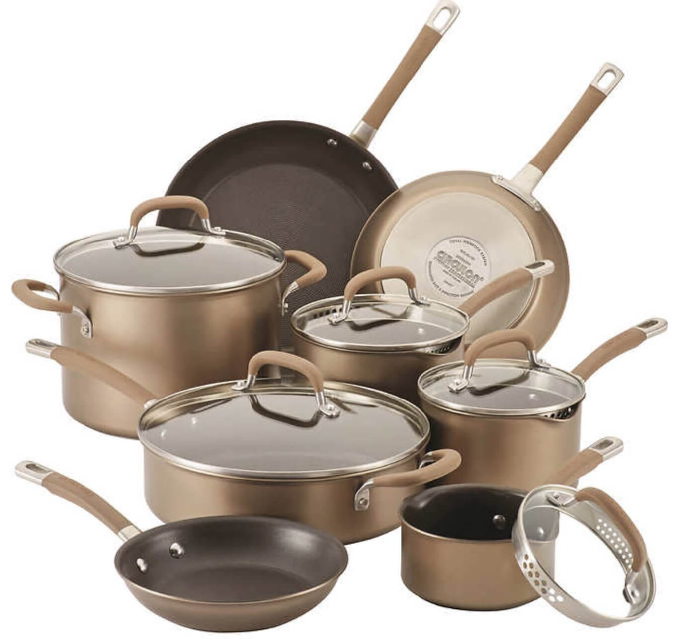 Circulon Premier Professional Hard Anodized Cookware Set with Stainless Steel Base