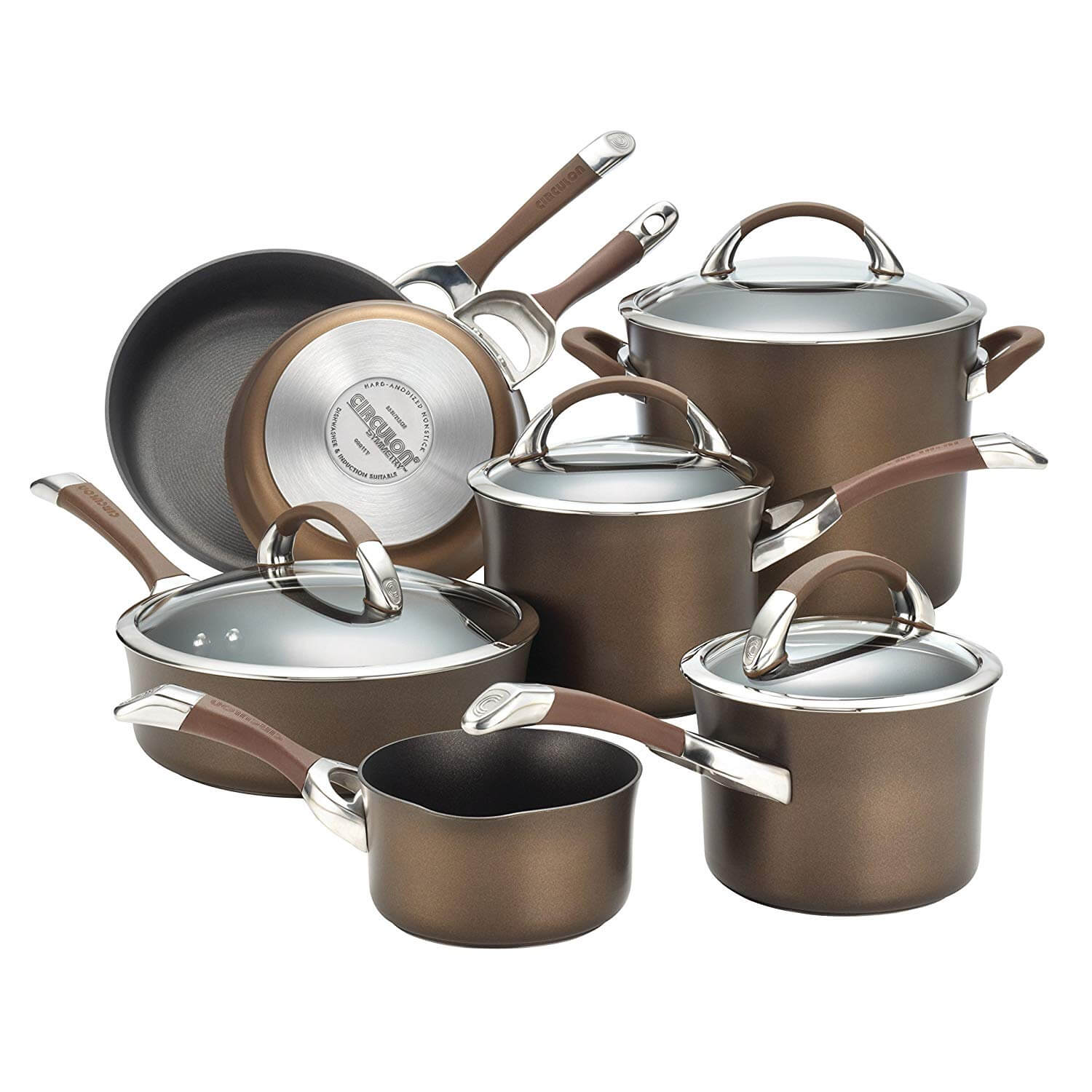 Circulon Symmetry Hard Anodized Non-stick Chocolate Cookware Set