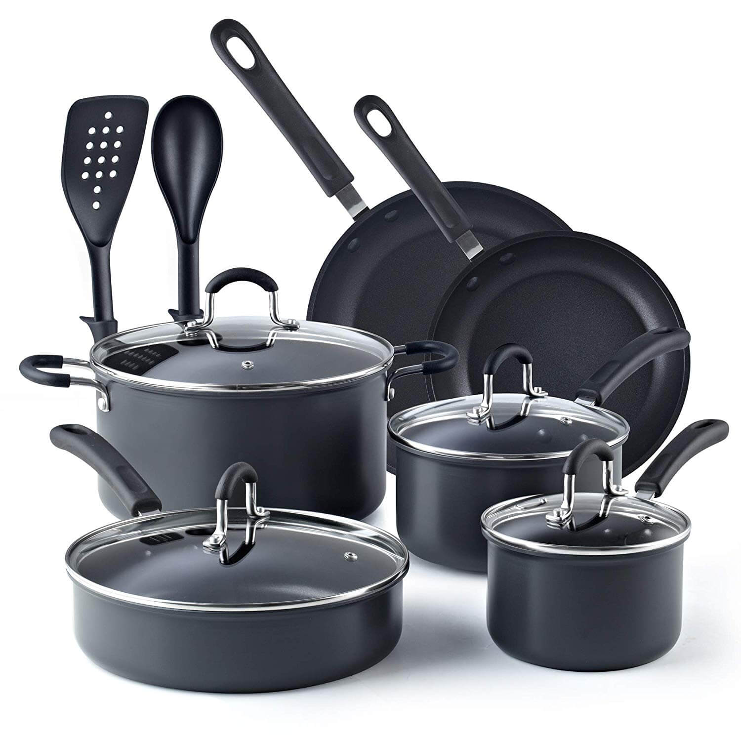 Cook N Home 02597 Non-stick Hard Anodized Cookware Set