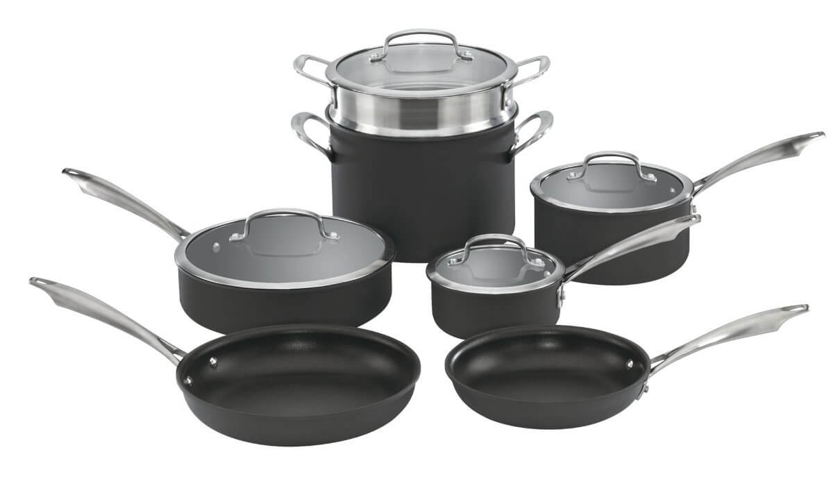 Cuisinart DSA-11 Dishwasher Safe Hard Anodized Cookware Set