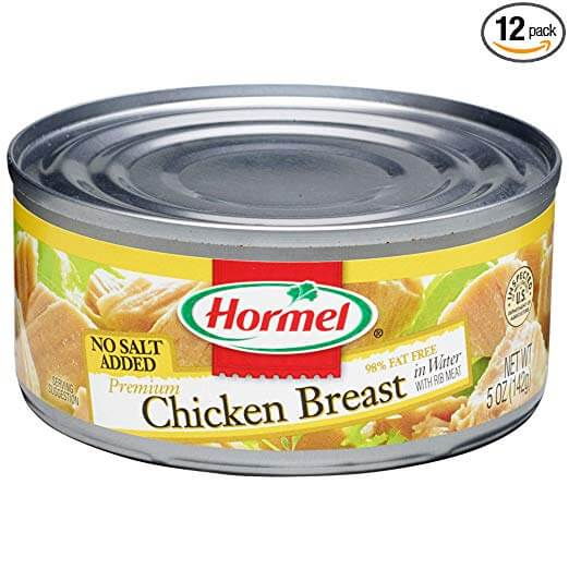 Hormel Premium No Salt Added Canned Chunk Chicken Breast in Water