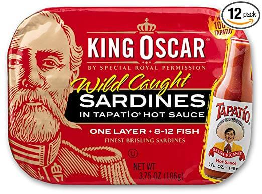 King Oscar Wild Caught Brisling Sardines in Tapatio Hot Sauce