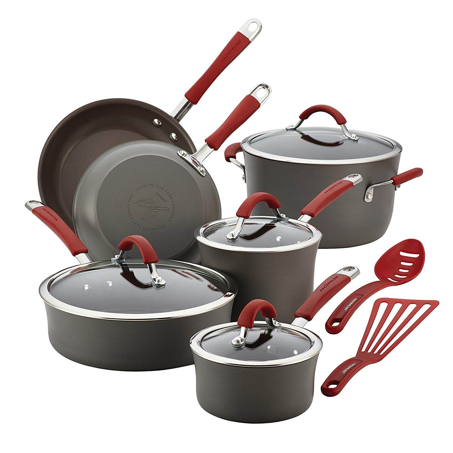 Rachael Ray Cucina Hard Anodized Aluminum Non-stick Cookware Set