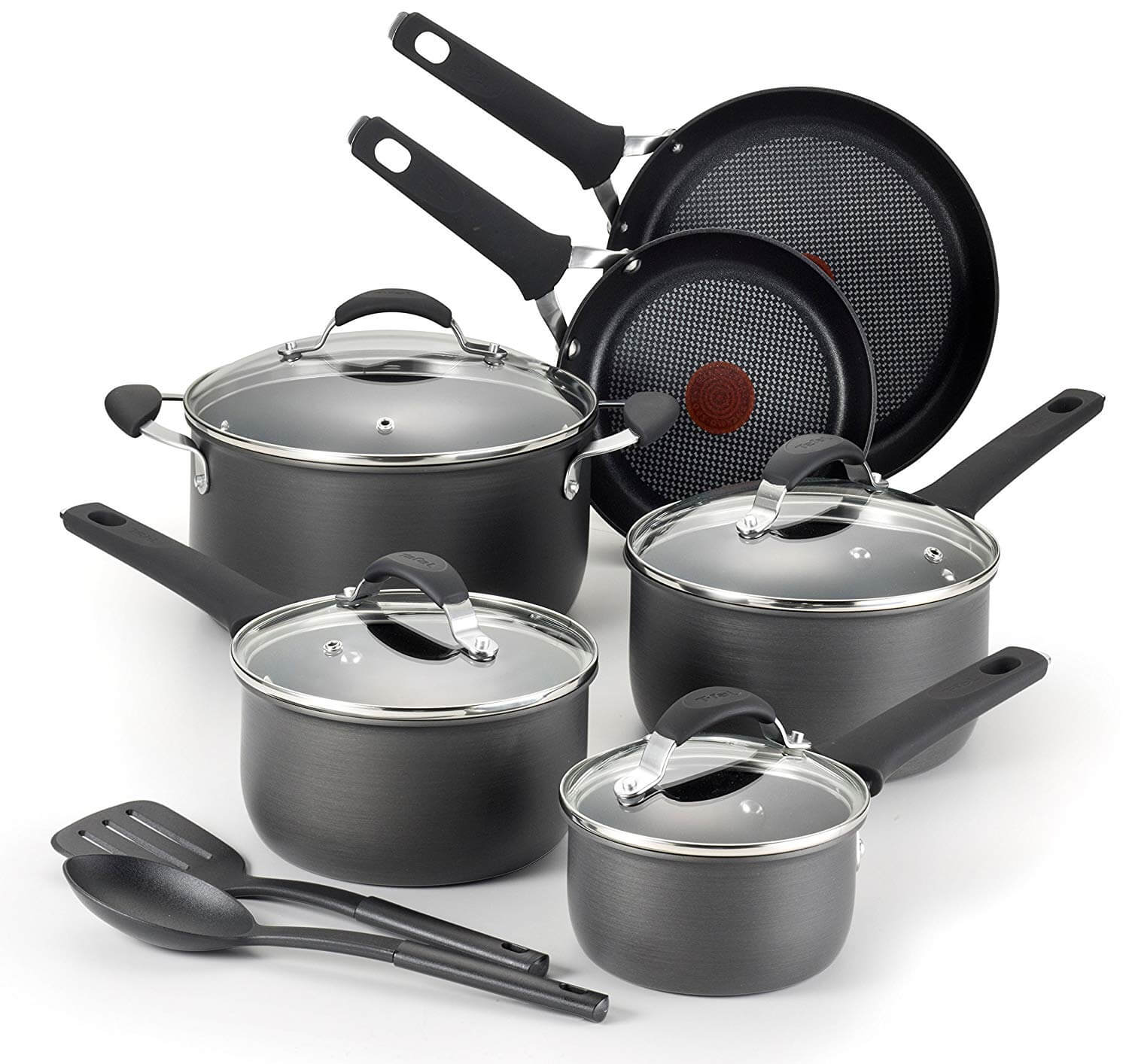 T-fal E817SC Endura Hard Anodized Titanium Non-stick Dishwasher Safe Cookware Set