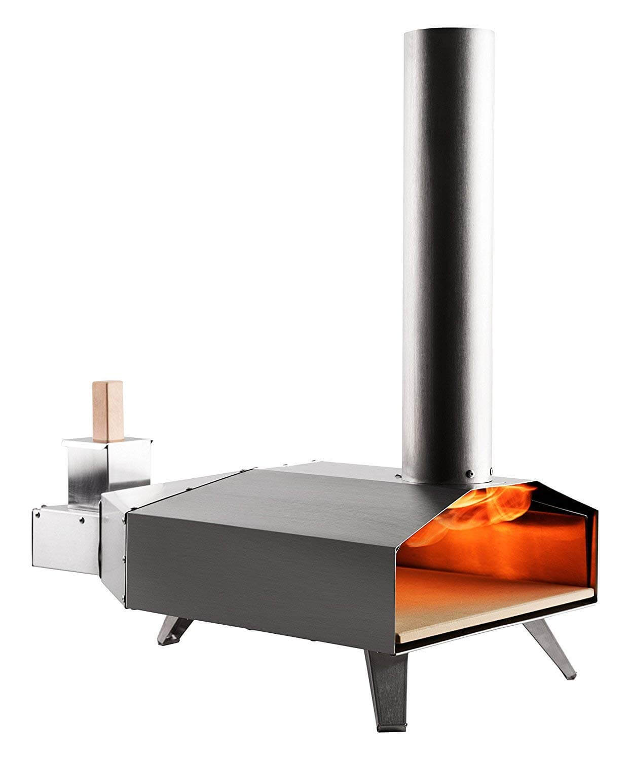 Uuni 3 Portable Wood Pellet Pizza Oven w Stone and Peel, Stainless Steel