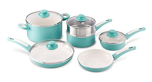 GreenPan Focus Turquoise Ceramic Cookware Set