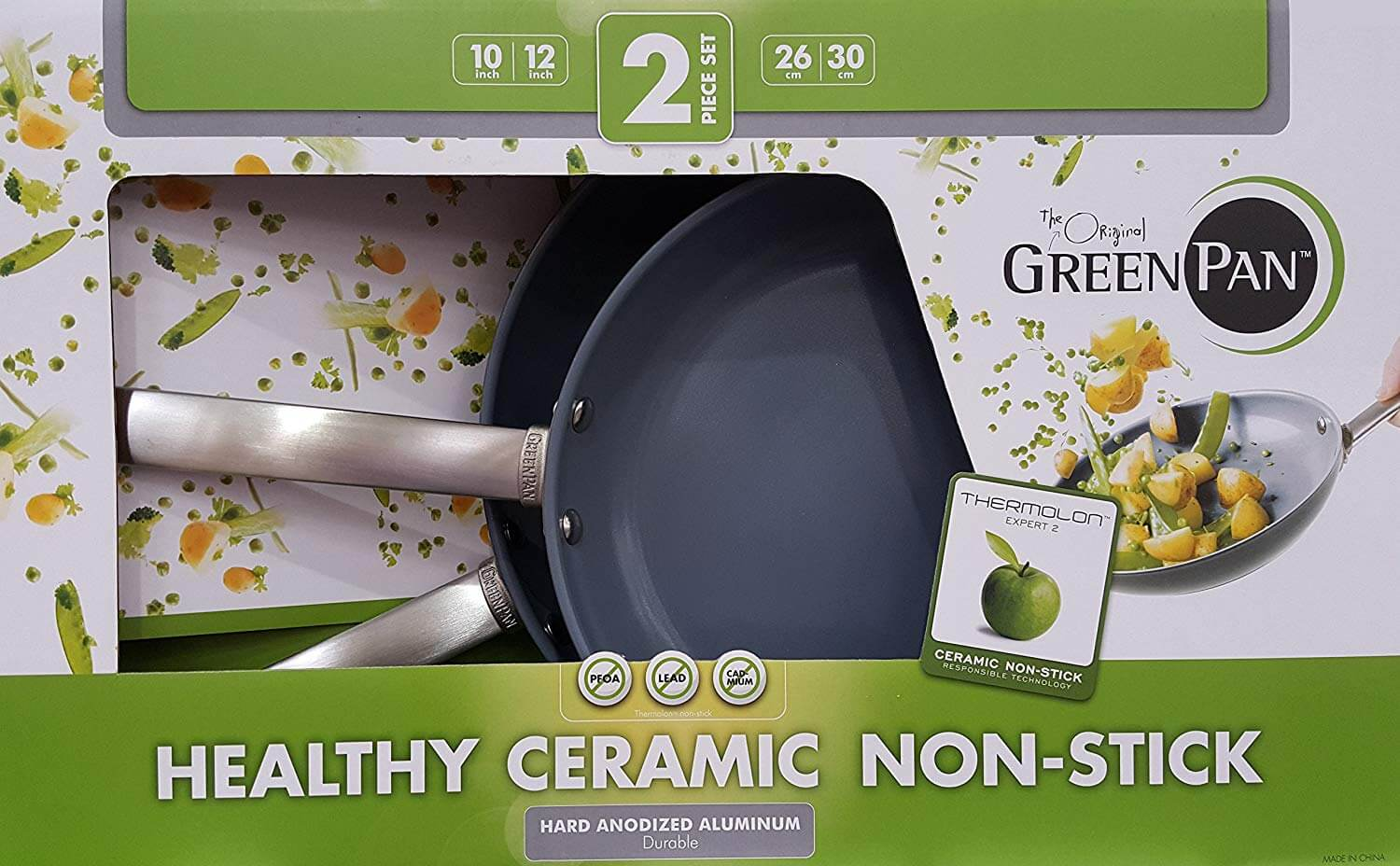GreenPan Hard-Anodized Ceramic Skillets