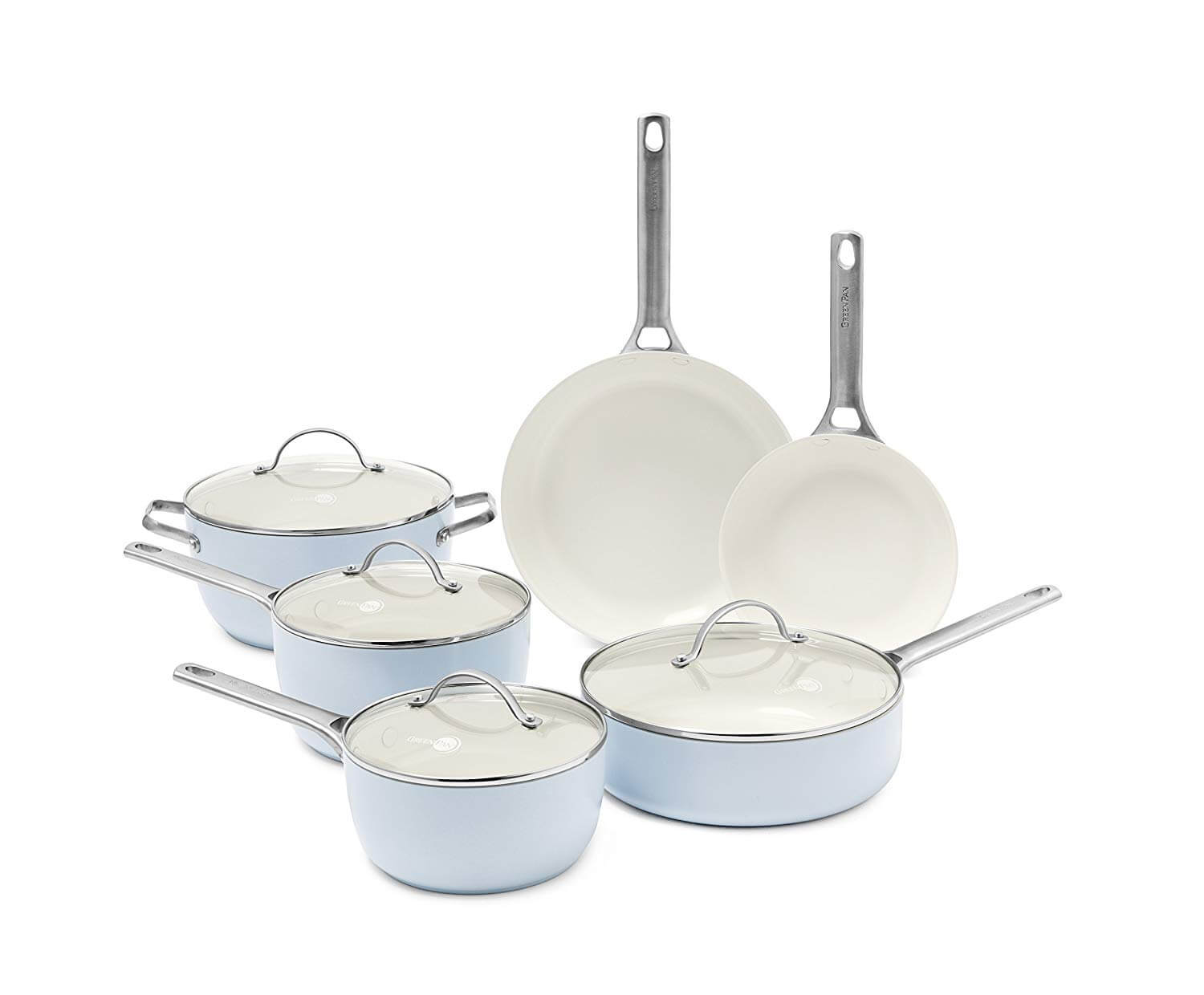 GreenPan Padova Ice Blue Ceramic Cookware Set