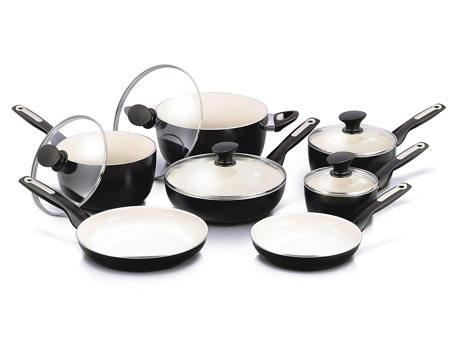 GreenPan Rio Black Ceramic Cookware Set