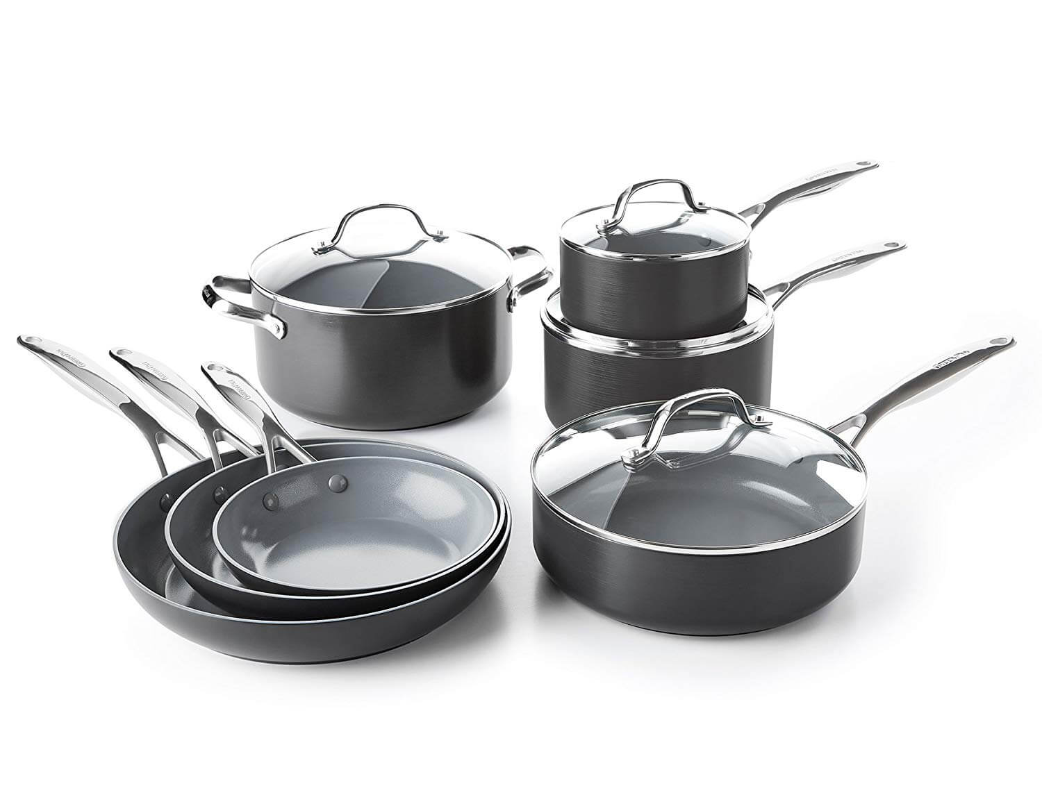 GreenPan Valencia Pro Gray Ceramic Cookware Set